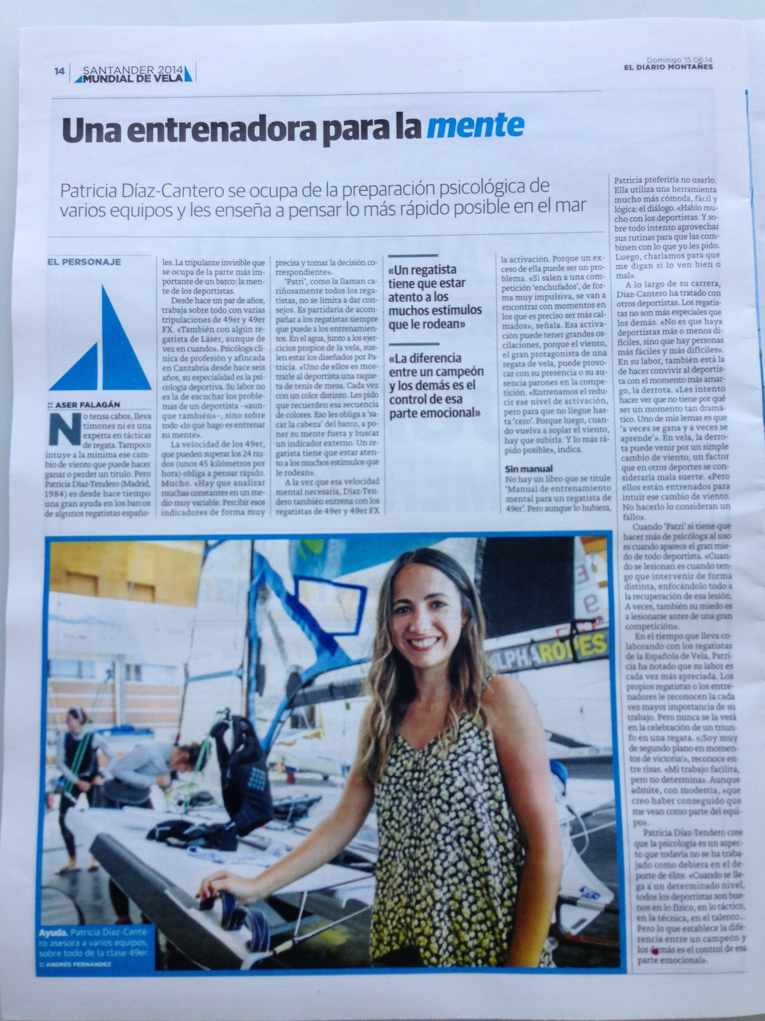 Entrevista en el Diario Montañés